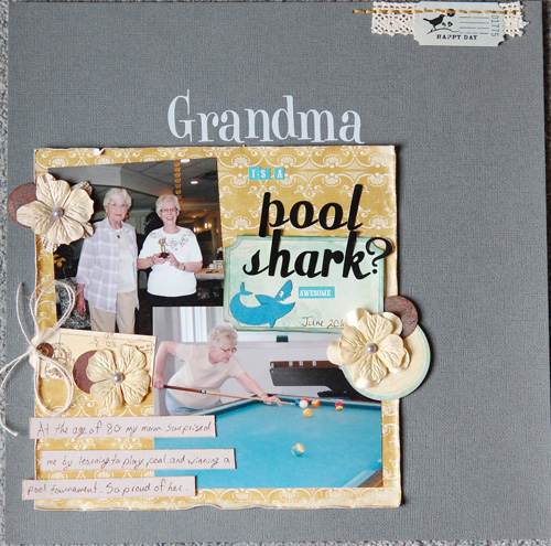 Grandma's A Pool Shark?